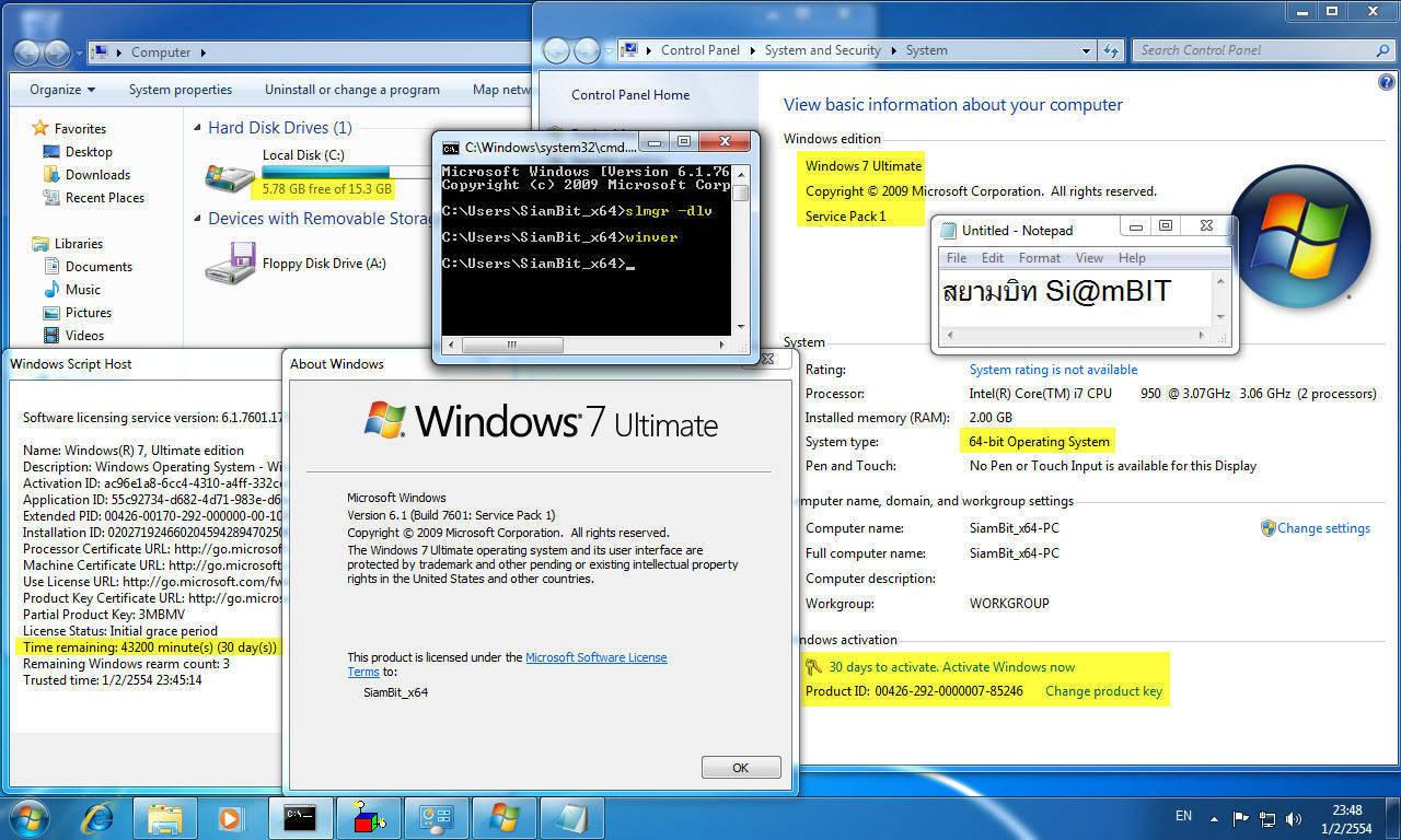 [MF]Windows 7 Service Pack 1 All in One (แผ่นเดียวได้ทั้ง 11 รุ่น ทั้ง 32 และ 64 bit) 133913001b149082b1b0a104c9a0f45eda4cd865