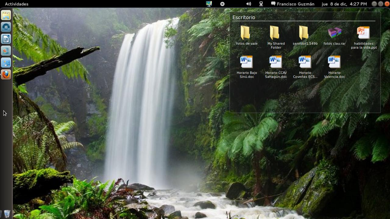 [W] Mi escritorio Ubuntu Gnome Shell Remix