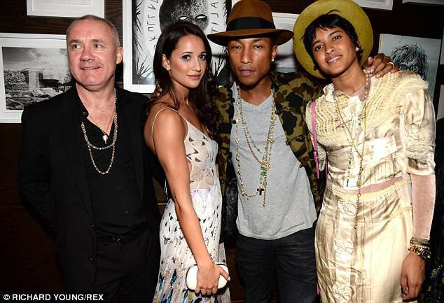 Pharrell & Co.At VIP Tracey Emin Dinner In Miami