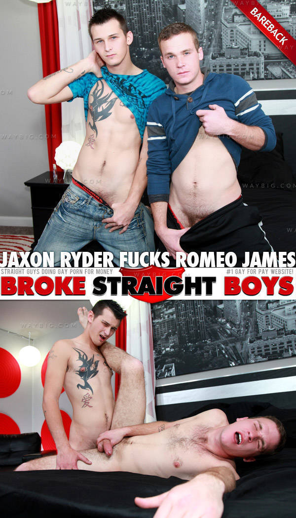 BrokeStraightBoys – Jaxon Ryder Fucks Romeo James (Bareback)