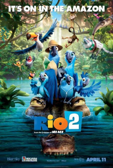 Rio 2 (2014) BRRip 720p x264 [BD 5 1 Multi Audio] [Hindi+Tamil+Telugu]
