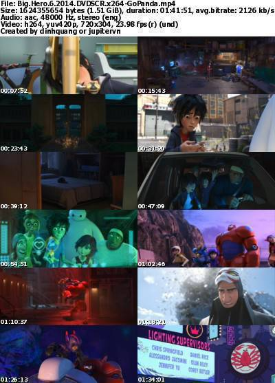 Big Hero 6 (2014) DVDSCR x264-GoPanda