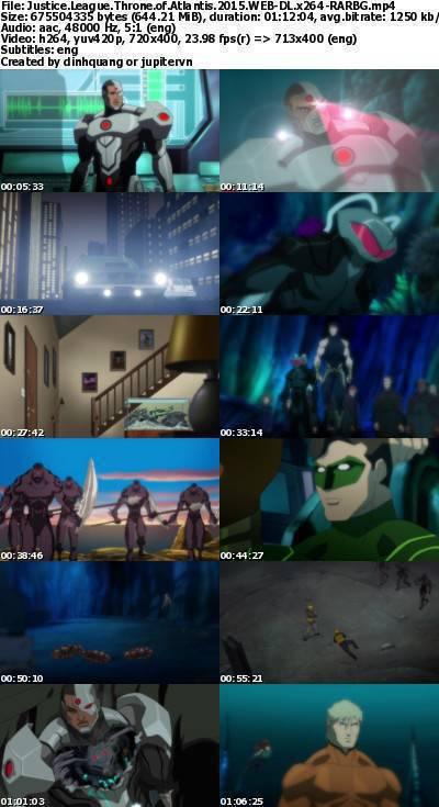 Justice League Throne of Atlantis (2015) WEB-DL x264-RARBG