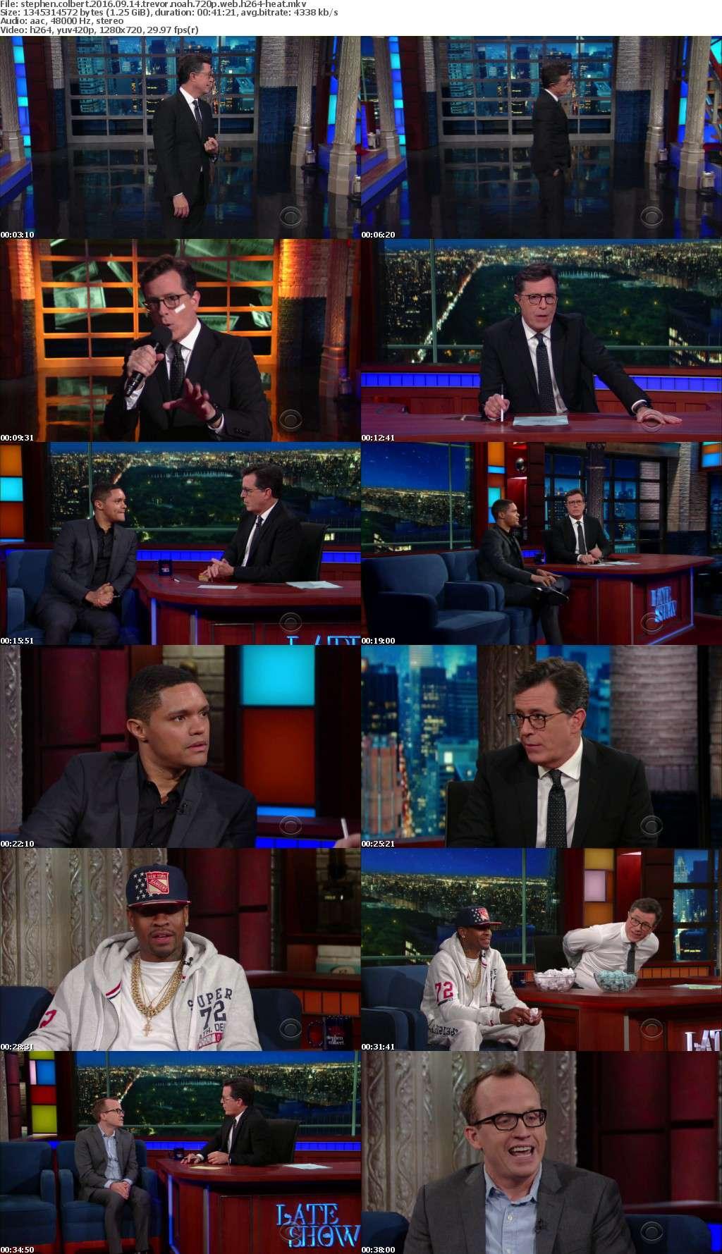 Stephen Colbert 2016 09 14 Trevor Noah 720p WEB h264-HEAT