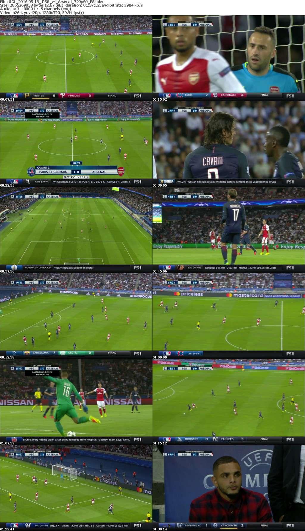 UCL 2016 09 13 PSG vs Arsenal 720p60 FS