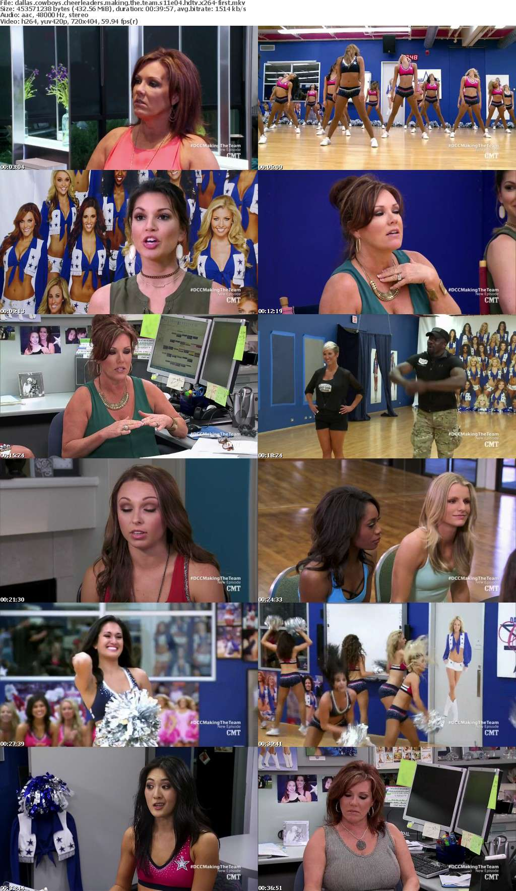 Dallas Cowboys Cheerleaders Making the Team S11E04 HDTV x264-FIRST