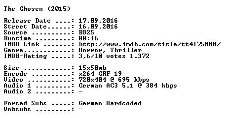 The Chosen German 2015 AC3 BDRip x264-SPiCY