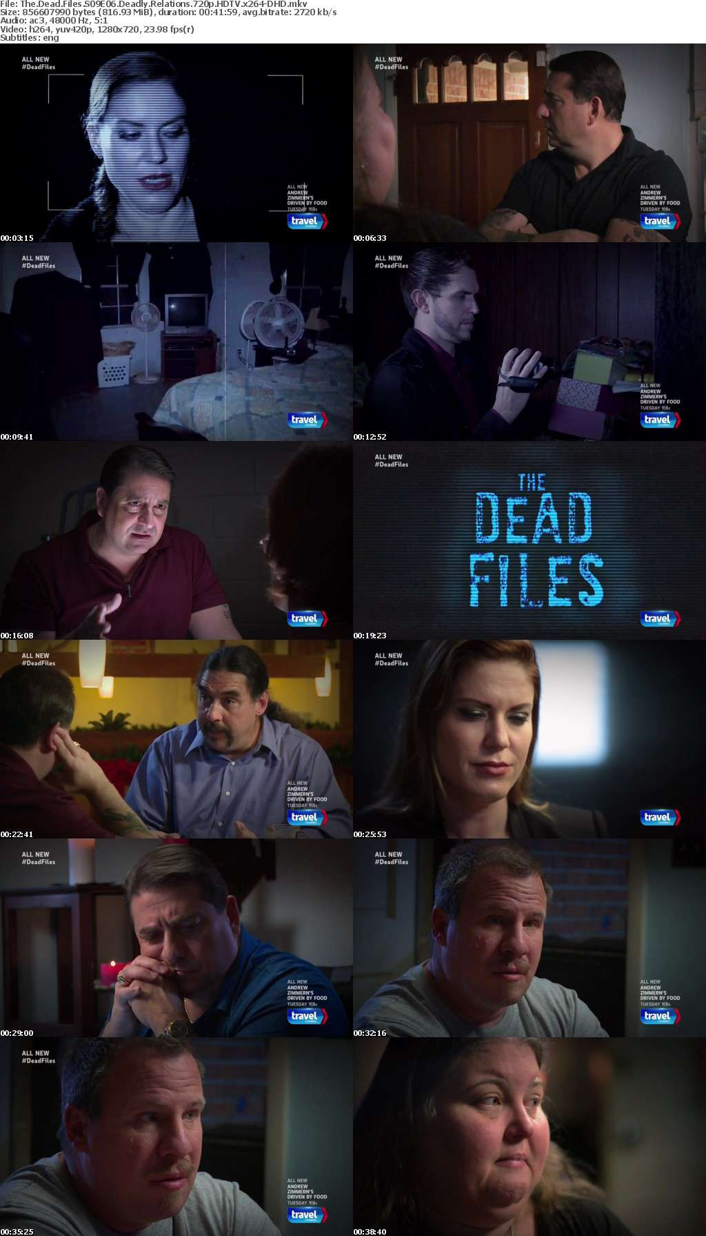 The Dead Files S09E06 Deadly Relations 720p HDTV x264-DHD