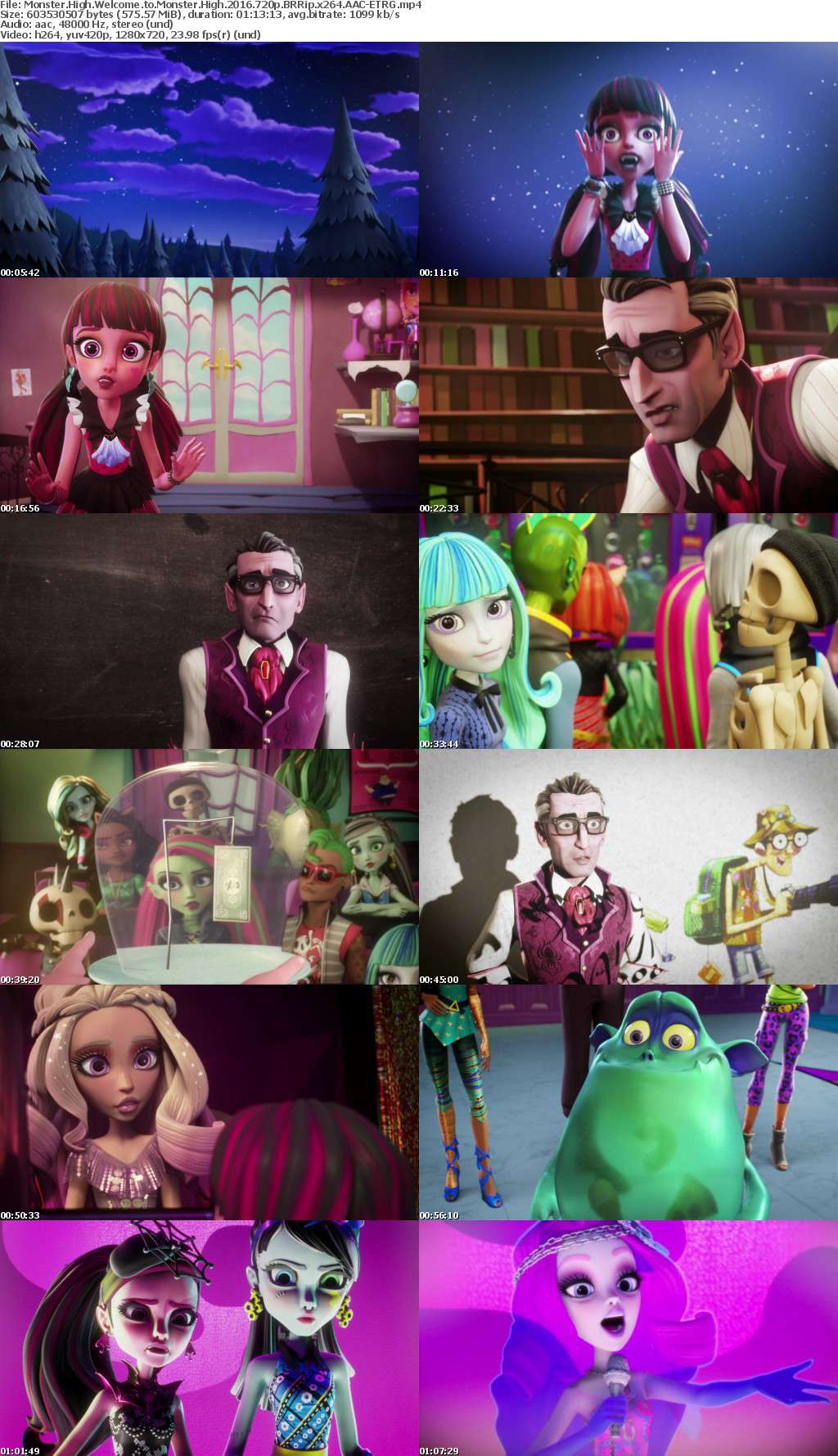 Monster High Welcome to Monster High 2016 720p BRRip x264 AAC ETRG