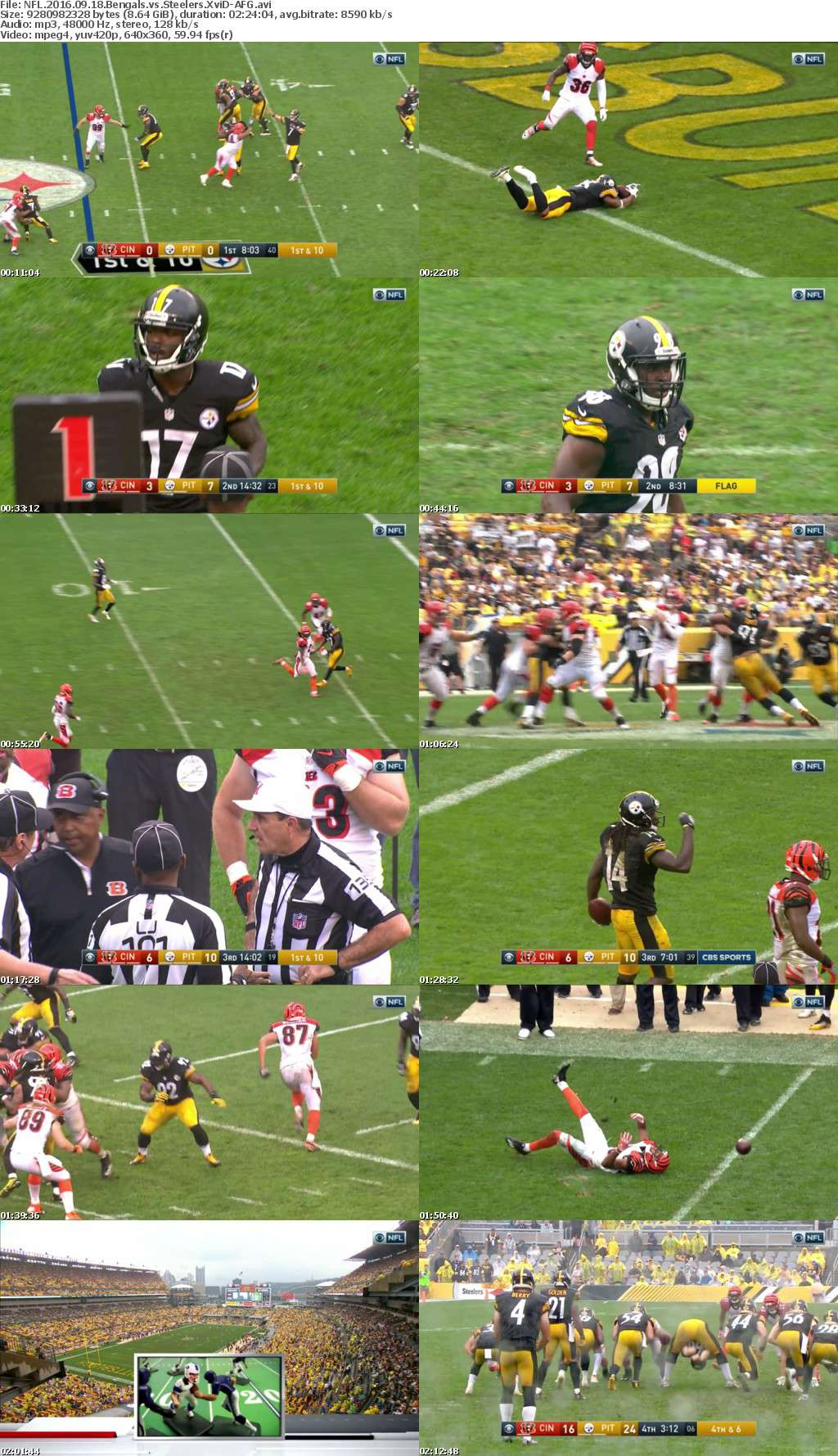 NFL 2016 09 18 Bengals vs Steelers XviD-AFG