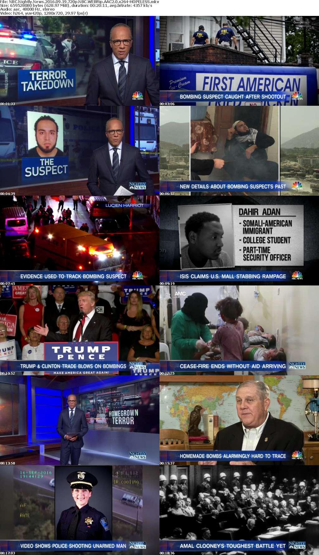 NBC Nightly News 2016 09 19 720p NBC WEBRip AAC2 0 x264-HOPELESS