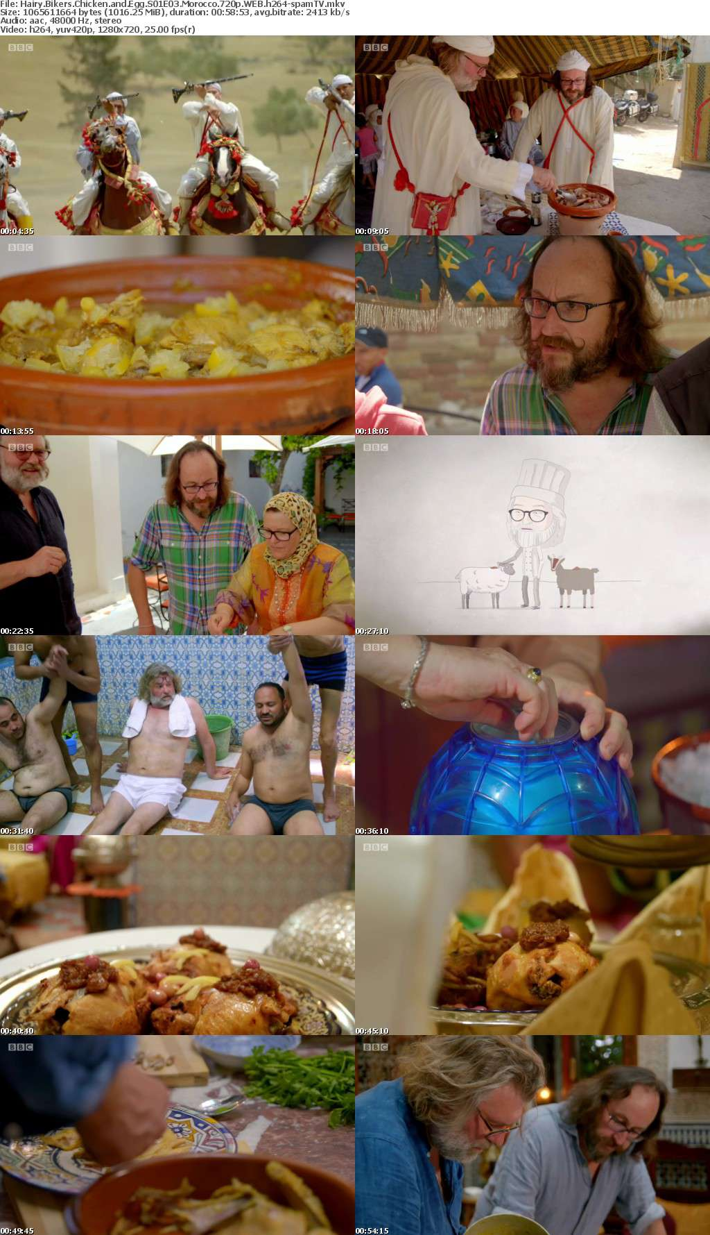 Hairy Bikers Chicken and Egg S01E03 Morocco 720p WEB h264-spamTV