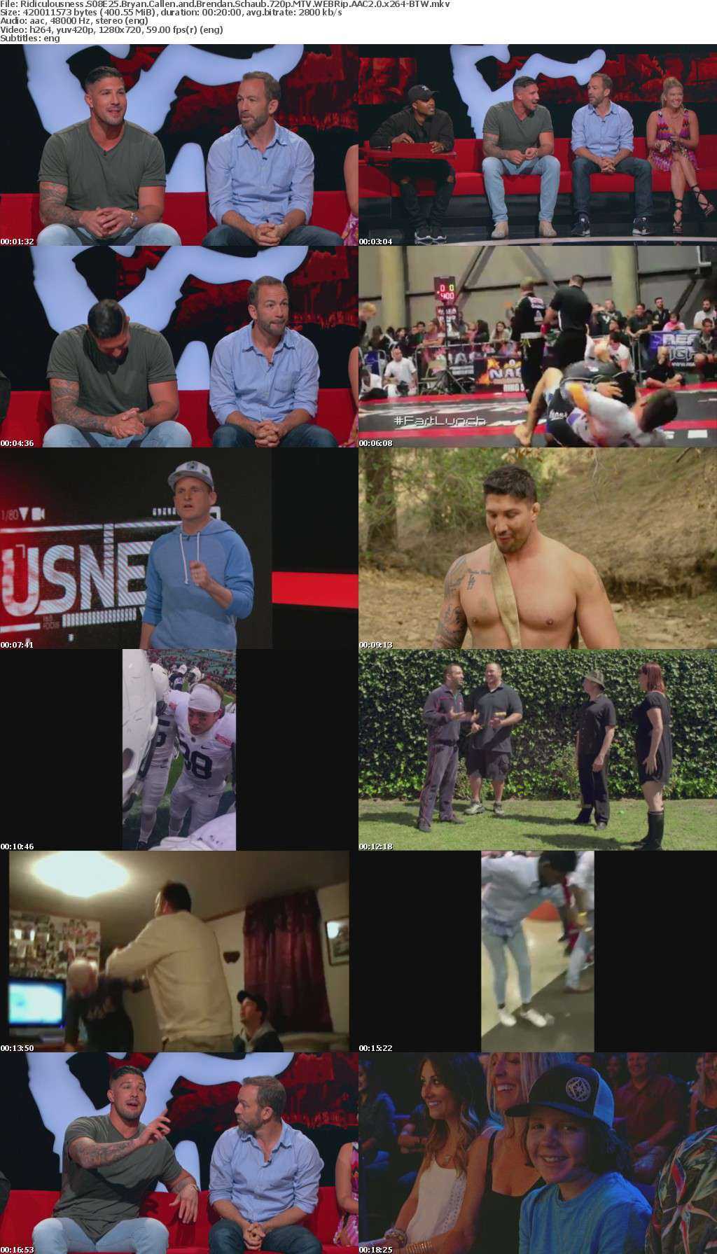Ridiculousness S08E25 Bryan Callen and Brendan Schaub 720p MTV WEBRip AAC2 0 x264-BTW