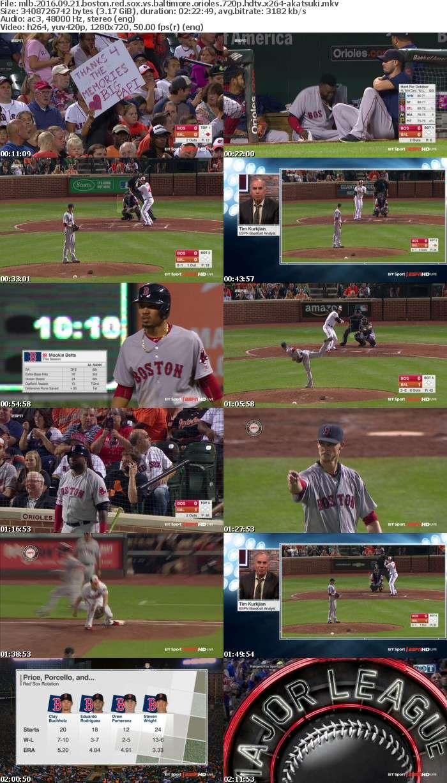 MLB 2016 09 21 Boston Red Sox Vs Baltimore Orioles 720p HDTV x264-AKATSUKi