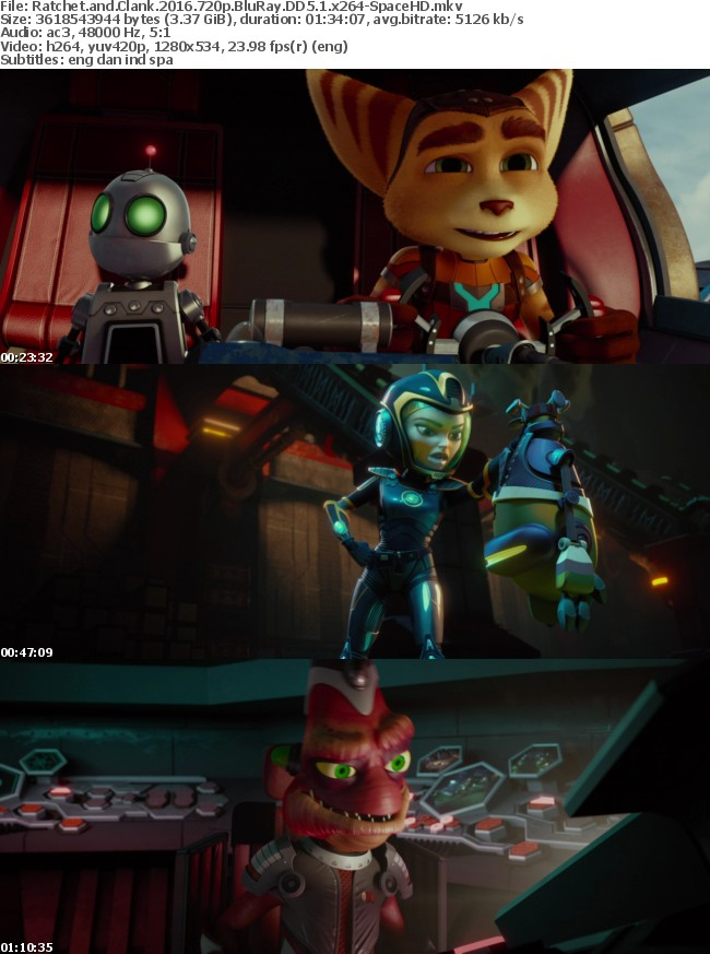 Ratchet and Clank 2016 720p BluRay DD5 1 x264-SpaceHD