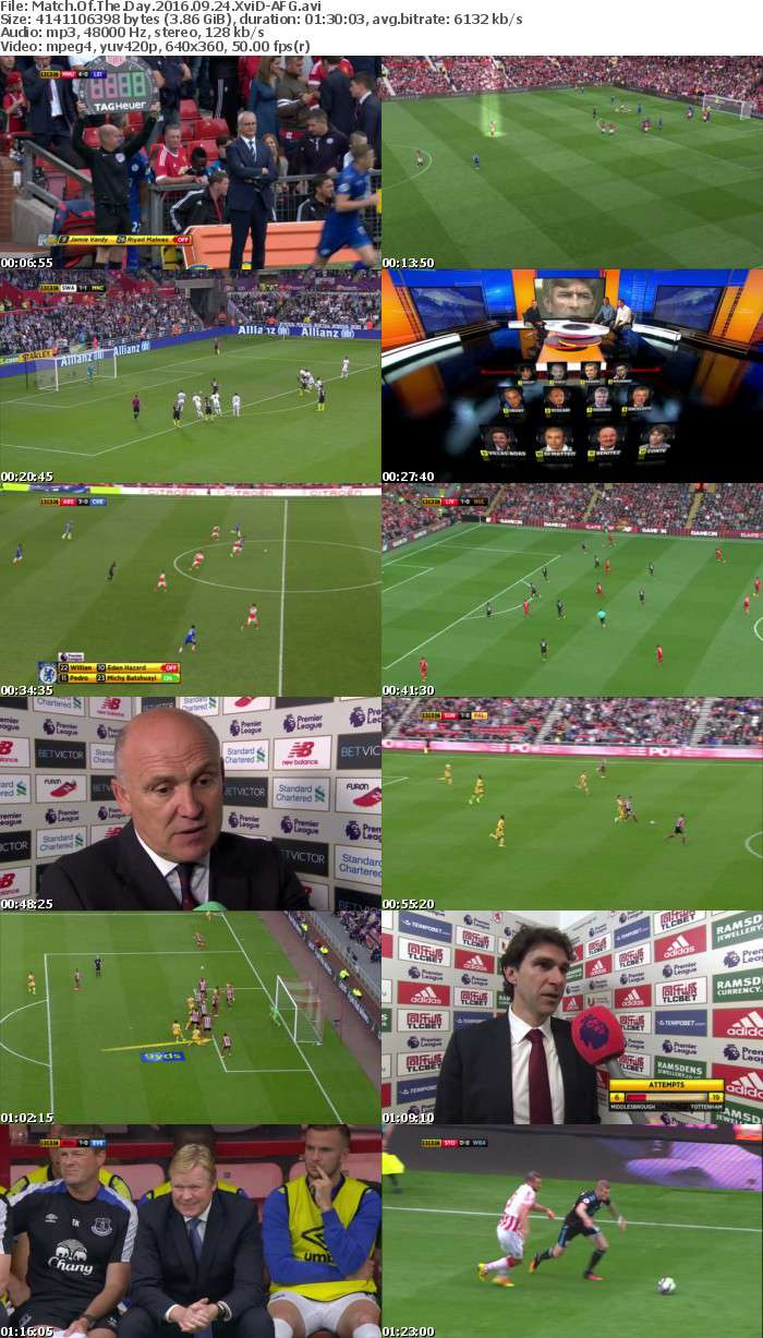Match Of The Day 2016 09 24 XviD-AFG