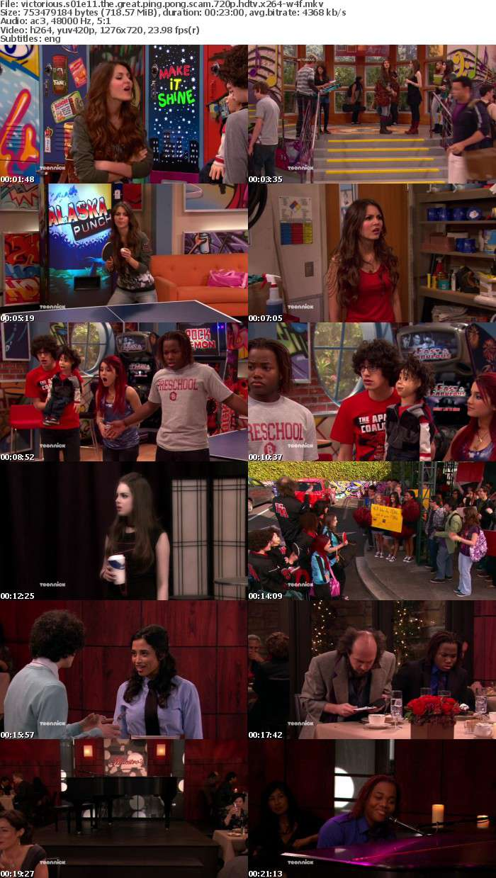 Victorious S01E11 The Great Ping Pong Scam 720p HDTV x264-W4F