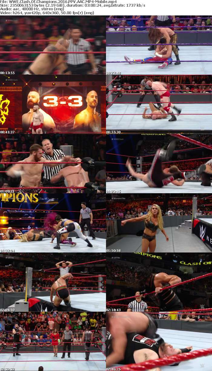 WWE Clash Of Champions 2016 PPV AAC-Mobile