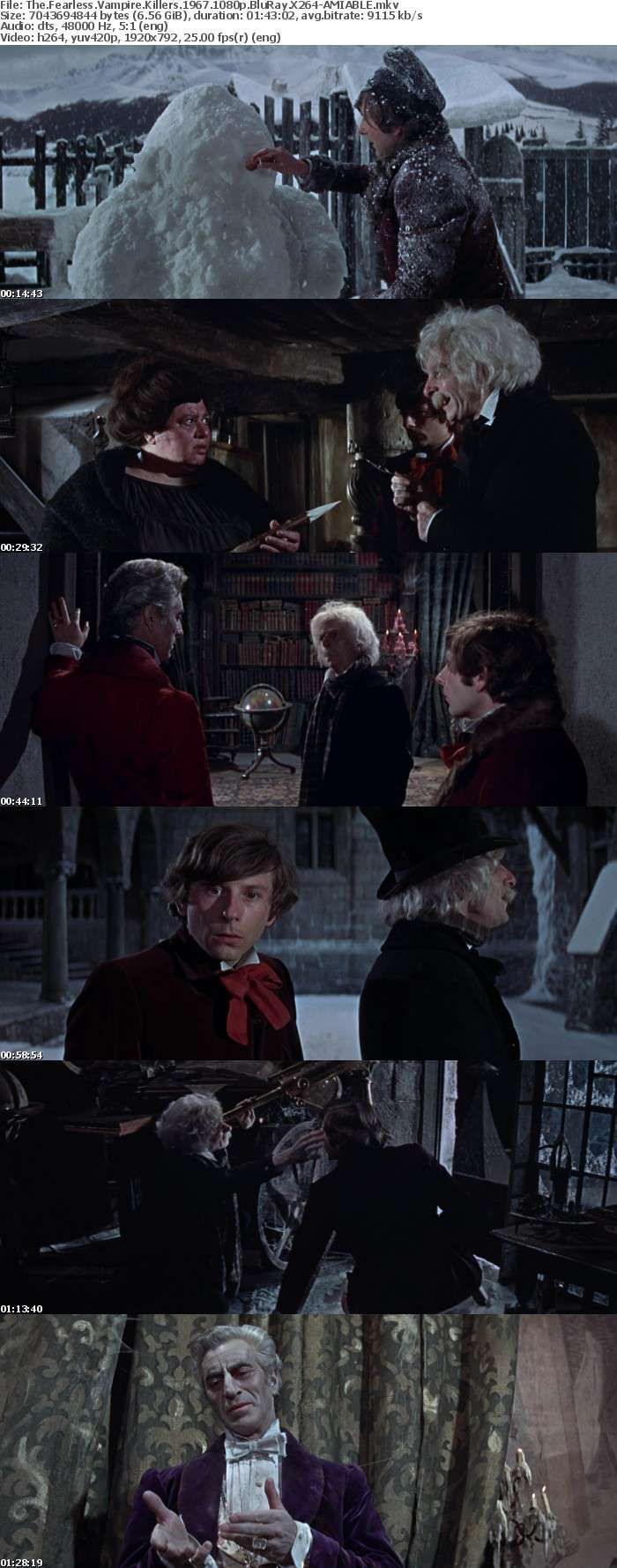 The Fearless Vampire Killers 1967 1080p BluRay X264-AMIABLE