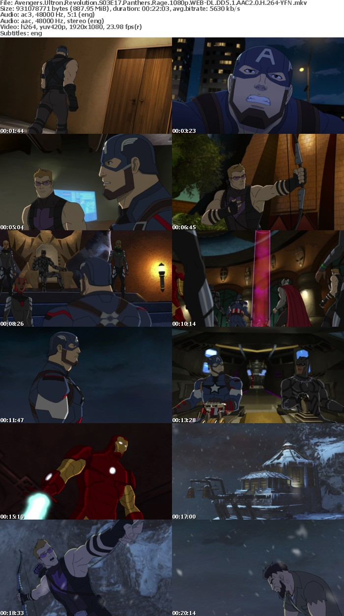 Avengers Ultron Revolution S03E17 Panthers Rage 1080p WEB-DL DD5 1 AAC2 0 H 264-YFN