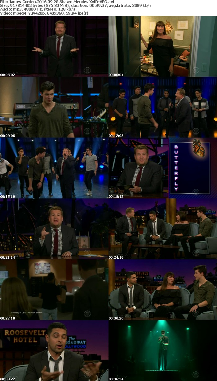 James Corden 2016 09 28 Shawn Mendes XviD-AFG