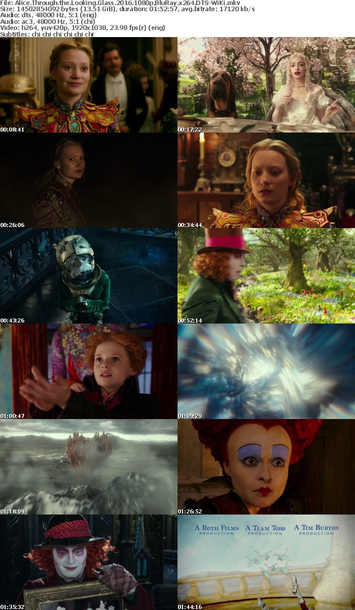 Alice Through the Looking Glass 2016 1080p BluRay x264 DTS-WiKi