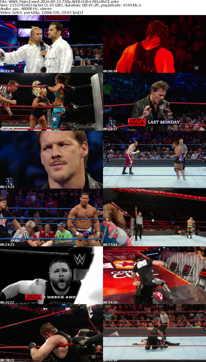WWE Main Event 2016 09 13 720p WEB H264-RELiANCE