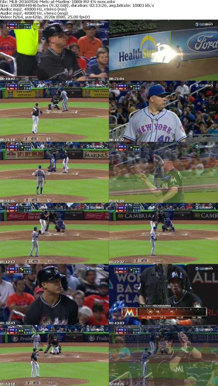 MLB 20160926 Mets at Marlins 1080i RU EN mex