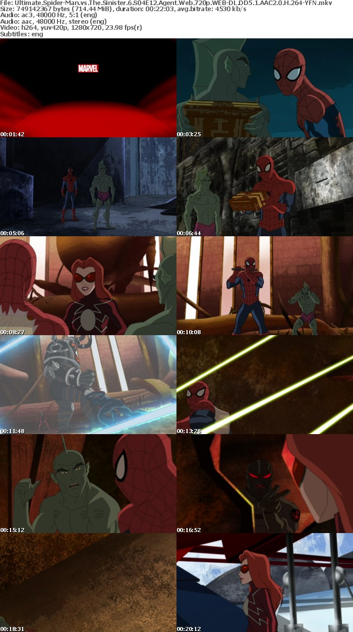 Ultimate Spider-Man vs The Sinister 6 S04E12 Agent Web 720p WEB-DL DD5 1 AAC2 0 H 264-YFN