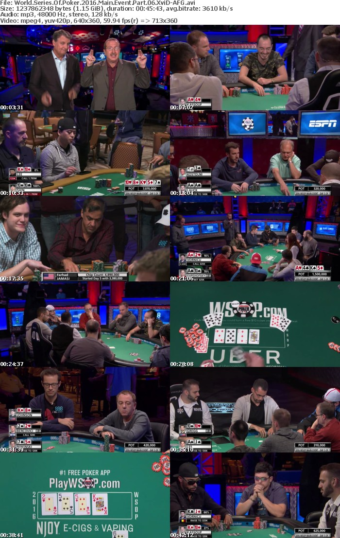 World Series Of Poker 2016 Main Event Part 06 XviD-AFG