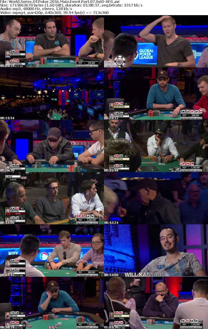 World Series Of Poker 2016 Main Event Part 07 XviD-AFG