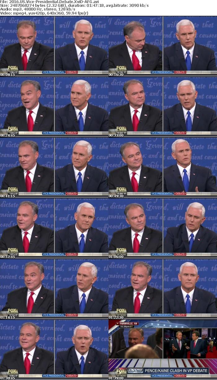 2016 US Vice-Presidential Debate XviD-AFG