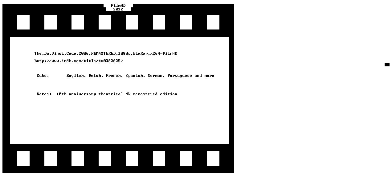 The Da Vinci Code 2006 REMASTERED 1080p BluRay x264-FilmHD