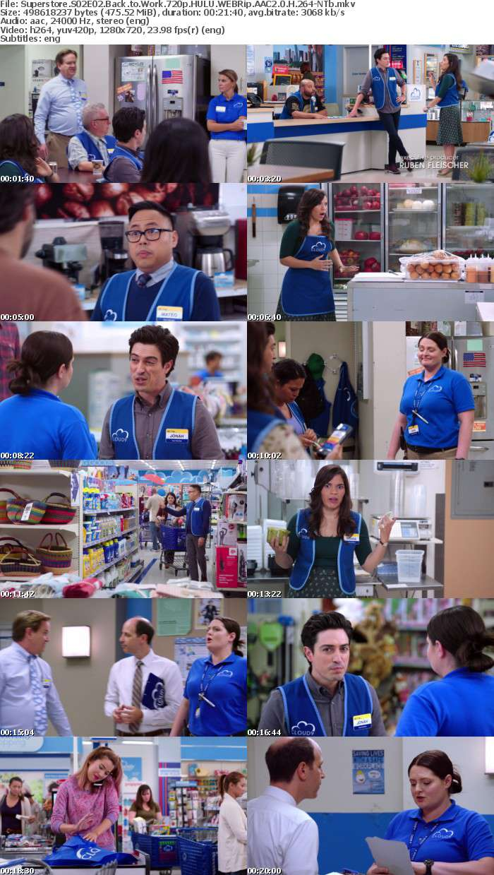 Superstore S02E02 Back to Work 720p HULU WEBRip AAC2 0 H 264-NTb