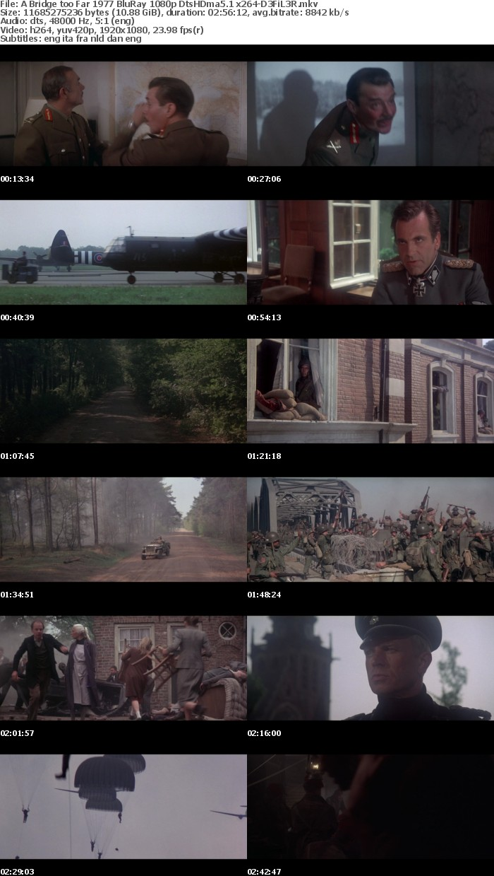 A Bridge too Far 1977 BluRay 1080p DtsHDma5 1 x264-D3FiL3R