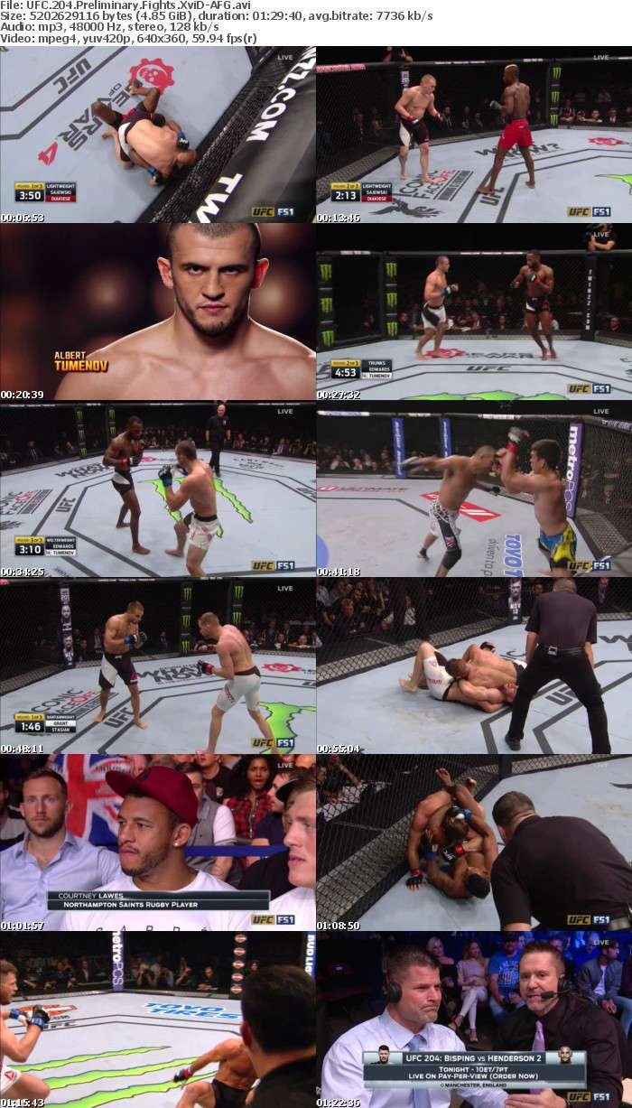 UFC 204 Preliminary Fights XviD-AFG