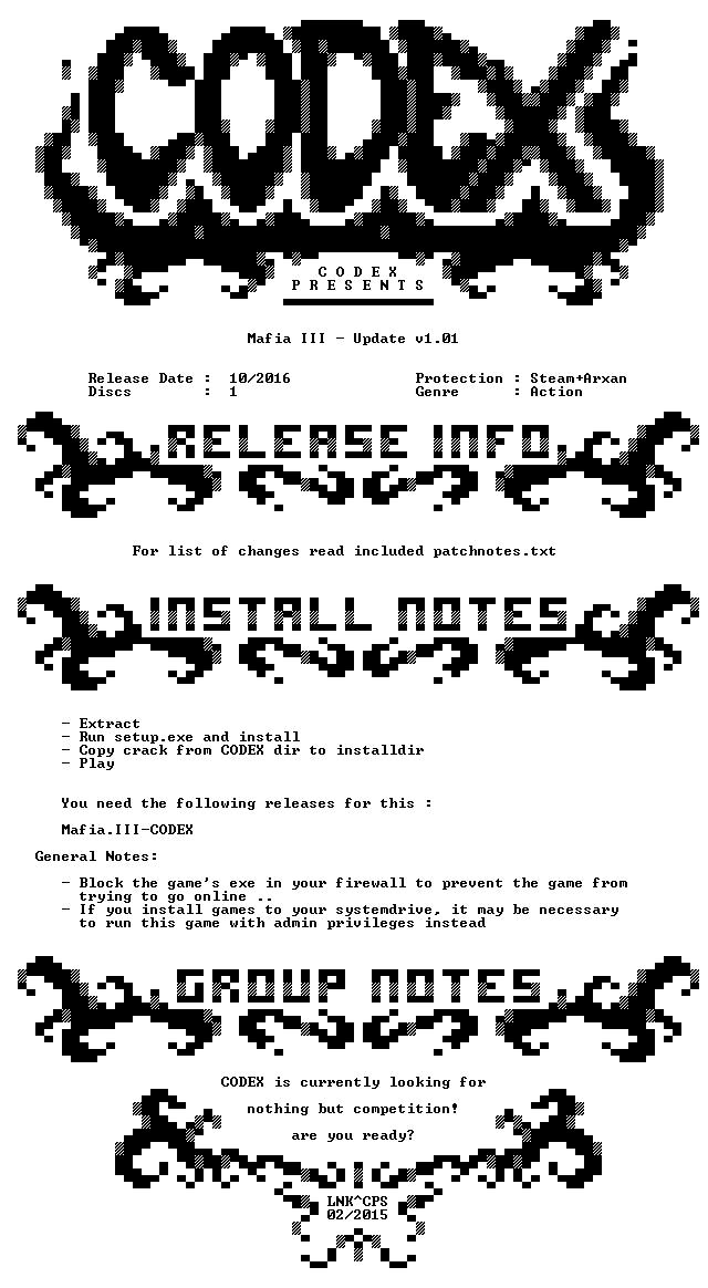 Mafia III Update v1 01-CODEX