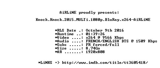 Knock Knock 2015 MULTi 1080p BluRay x264-AiRLiNE