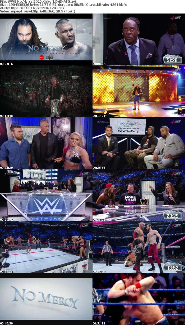 WWE No Mercy 2016 Kickoff XviD-AFG