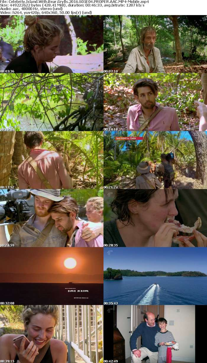 Celebrity Island With Bear Grylls 2016 S01E04 PROPER AAC-Mobile