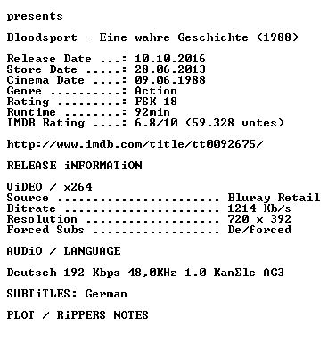 Bloodsport German 1988 AC3 BDRip x264 iNTERNAL-KULTFiLME