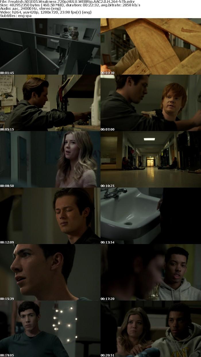 Freakish S01E05 Weakness 720p HULU WEBRip AAC2 0 H 264 NTb