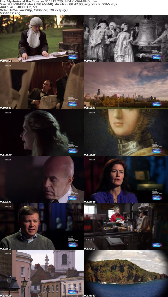 Mysteries at the Museum S11 720p HDTV DD5 1 x264-DHD