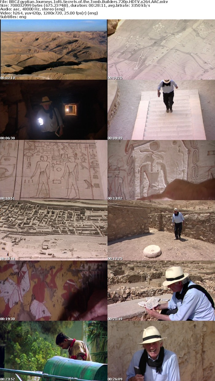 BBC Egyptian Journeys 1of6 Secrets of the Tomb Builders 720p HDTV x264 AAC