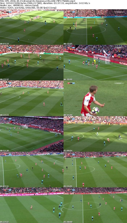 EPL 2016 10 15 Arsenal Vs Swansea City AAC-Mobile