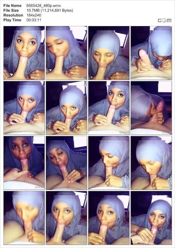 صومالية محجبة تاكل الزب أكل
