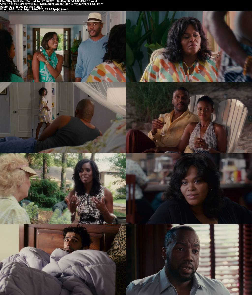 why do we get married Reuniting the same charismatic cast and characters from his hit comedy/drama, why did i get married, tyler perry brings us the next chapter in the lives of eight college friends struggling with the challenges of marital life in why did i get married too.