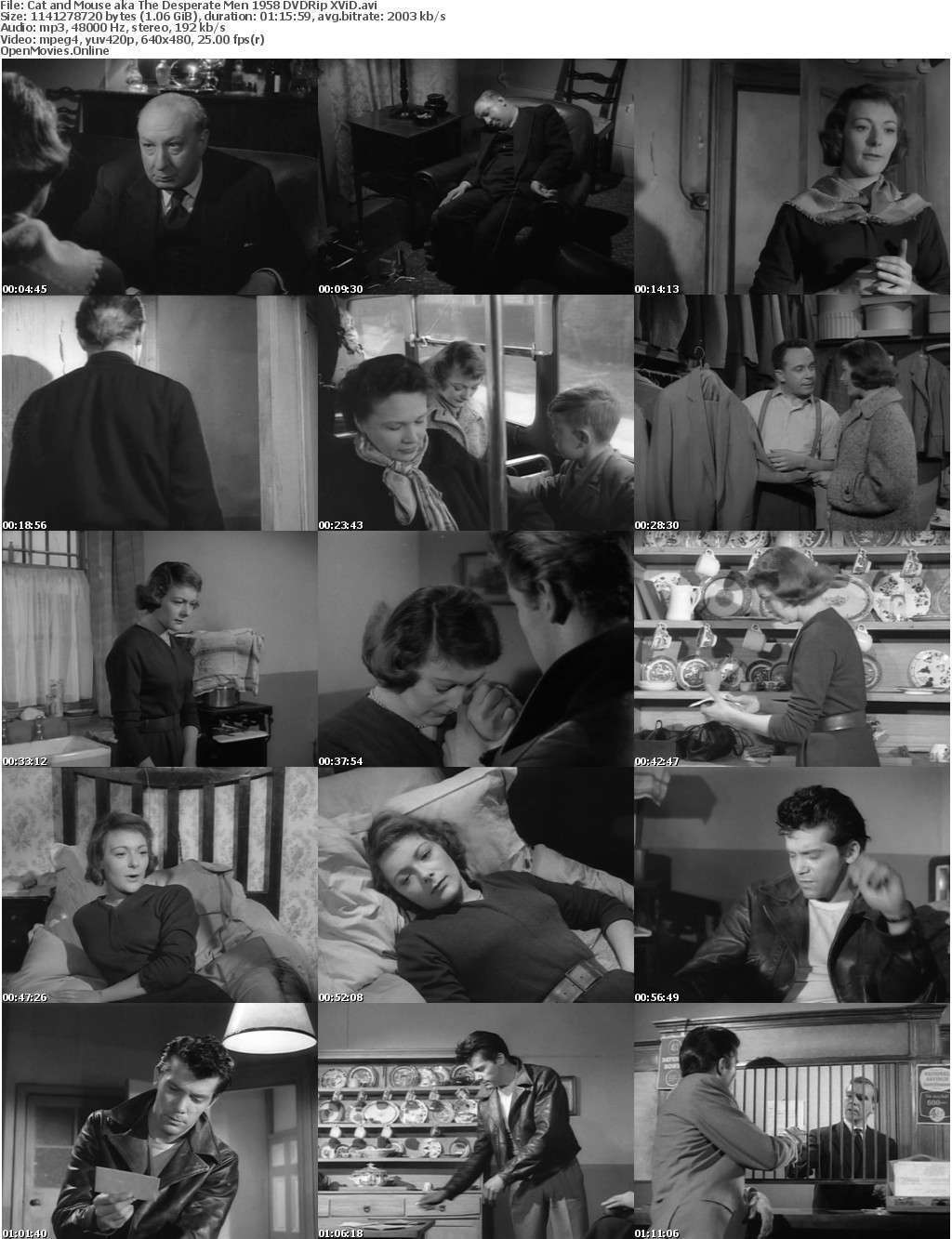 Cat and Mouse aka The Desperate Men 1958 DVDRip XViD