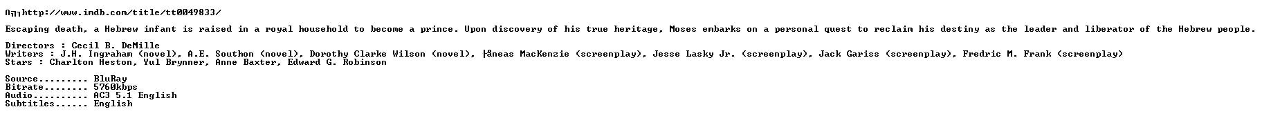 The Ten Commandments 1956 1080p BluRay x264-nikt0