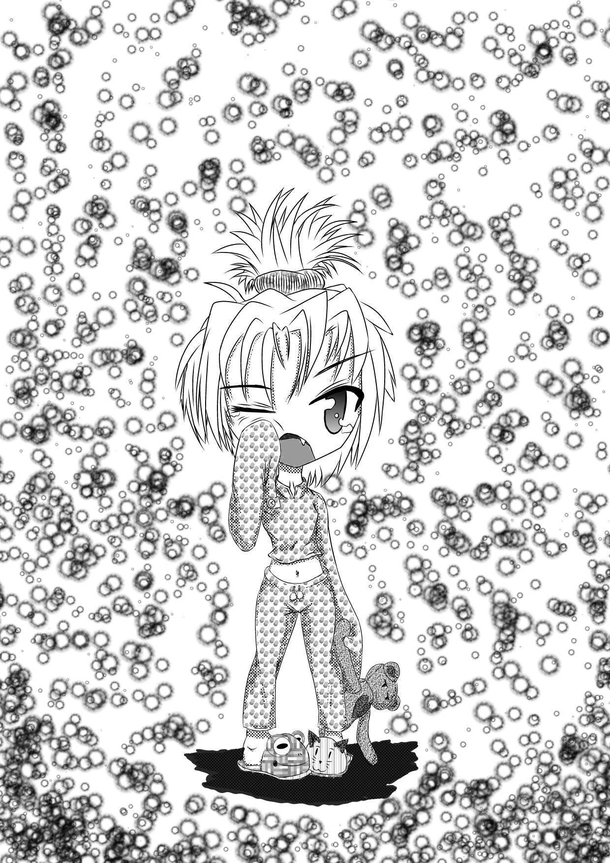 Dibujos hechos a mano, estilo Manga